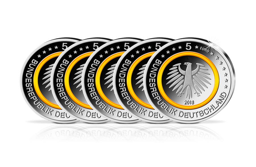 5 Euro Münze Subtropische Zone Komplettsatz In Stempelglanz 2018