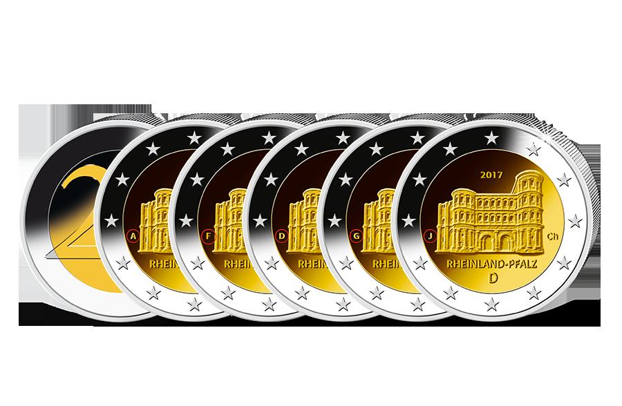 2 Euro Komplettsatz Rheinland Pfalz 2017 Btn Münzen Online Kaufen