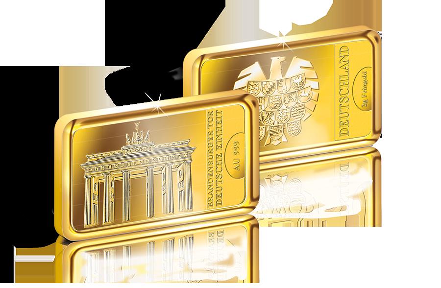 Goldbarren Deutsche Einheit Am Brandenburger Tor Btn Münzen