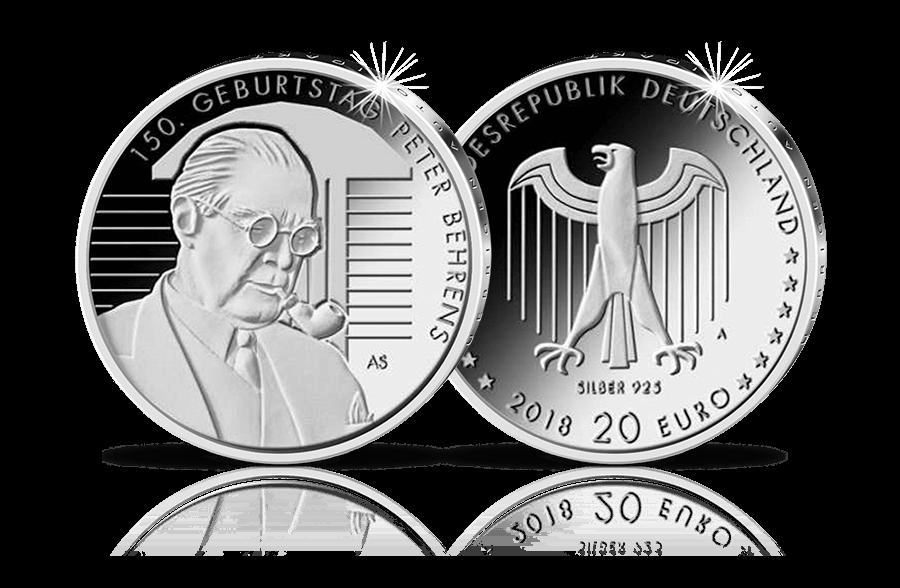 20 Euro Gedenkmünze 150 Geburtstag Peter Behrens 2018 Btn