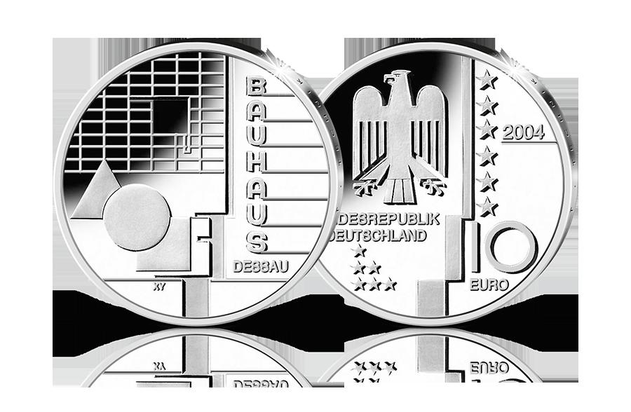 10 Euro Silbermünze Bauhaus Dessau Btn Münzen Online Kaufen