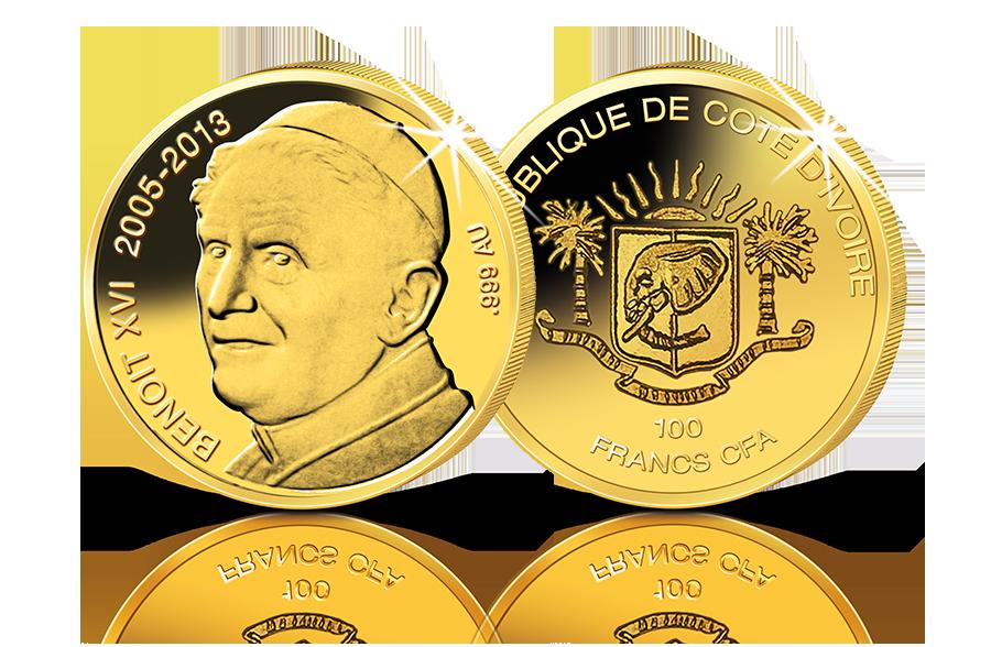 Goldmünze Papst Benedikt Xvi Btn Münzen Online Kaufen
