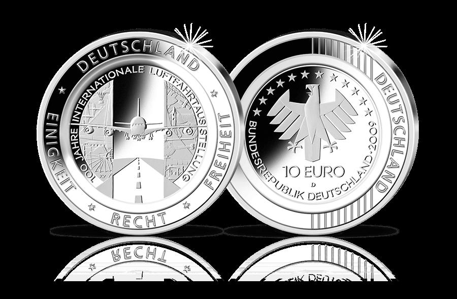 10 Euro Münze Mit Transparentem Polymer Ring 100 Jahre
