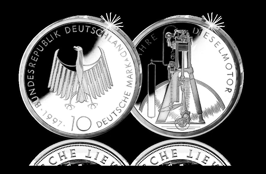 10 Dm Münze 100 Jahre Dieselmotor Btn Münzen Online Kaufen