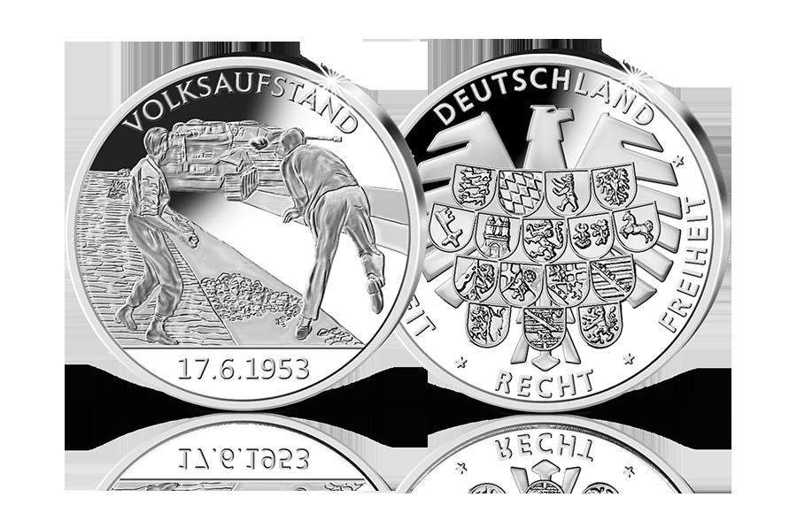Silber Gedenkprägung Fall Der Mauer 09111989 Btn Münzen Online