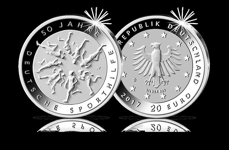 20 Euro Münze 50 Jahre Deutsche Sporthilfe In Stempelglanz 2017