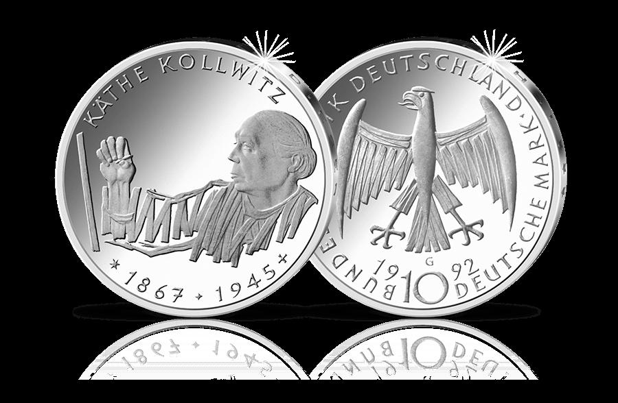10 Dm Silber Münze Käthe Kollwitz Btn Münzen Online Kaufen