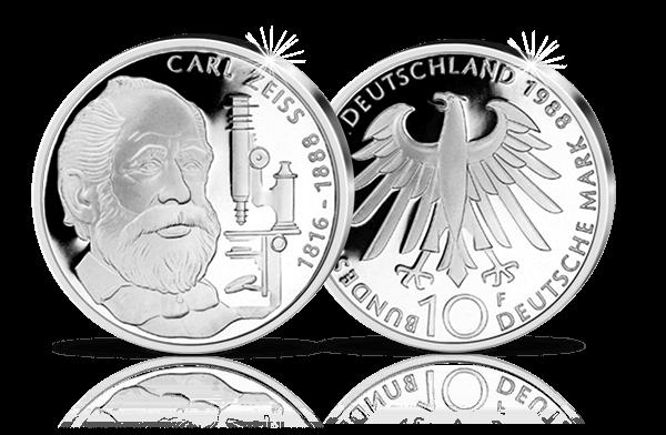 10 Dm Silbermünze 100 Todestag Carl Zeiss Btn Münzen Online Kaufen