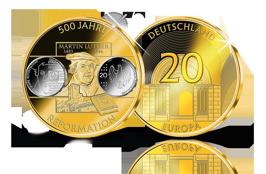 Euro Erstabschlag 500 Jahre Reformation Btn Münzen Online Kaufen