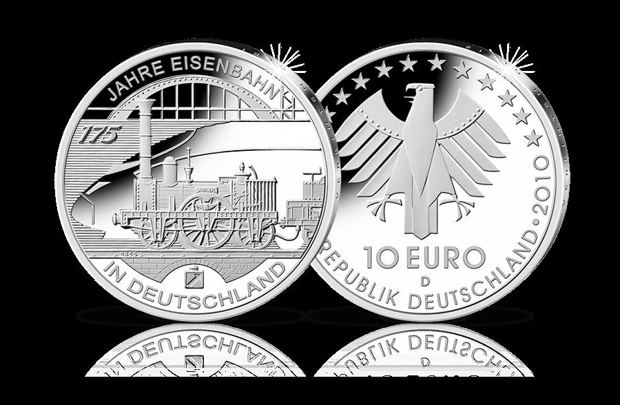 10 Euro Gedenkmünze 2008 50 Jahre Segelschulschiff Gorch Fock Btn