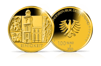 Münzen Säulen der Demokratie: Einigkeitg